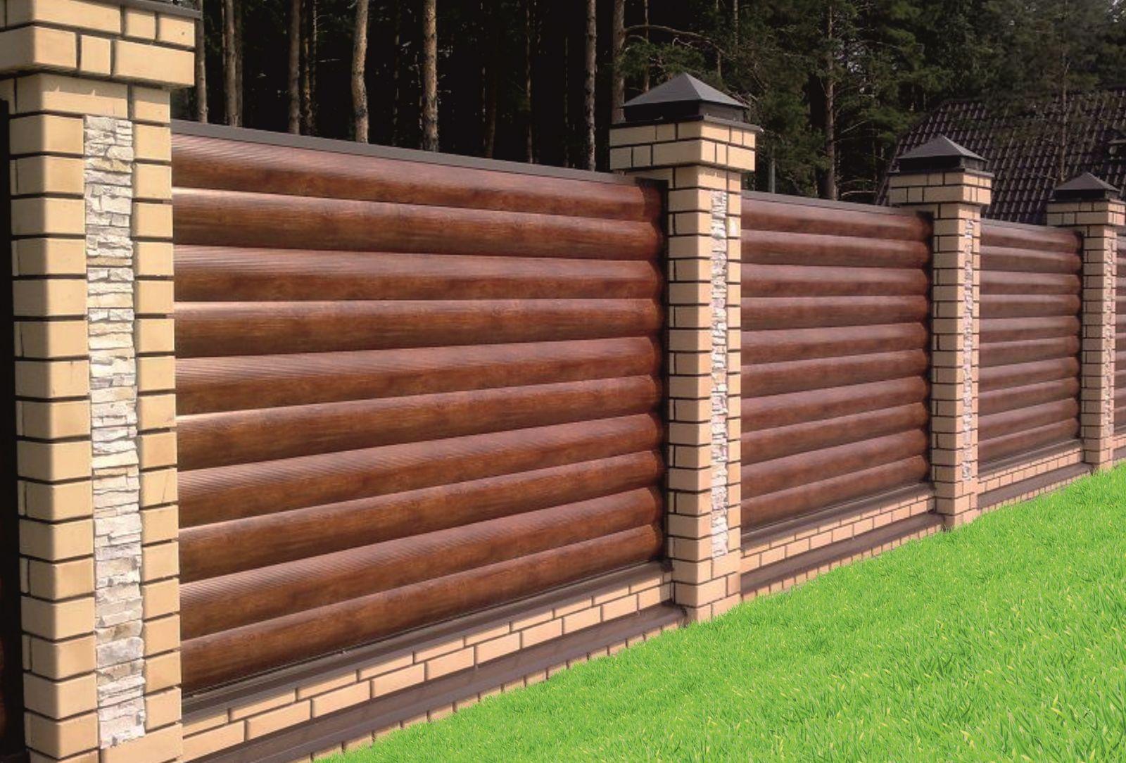 Забор из блок хауса фото 5